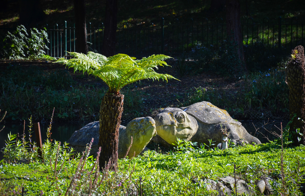 Dinosaur statues in Crystal Palace Park